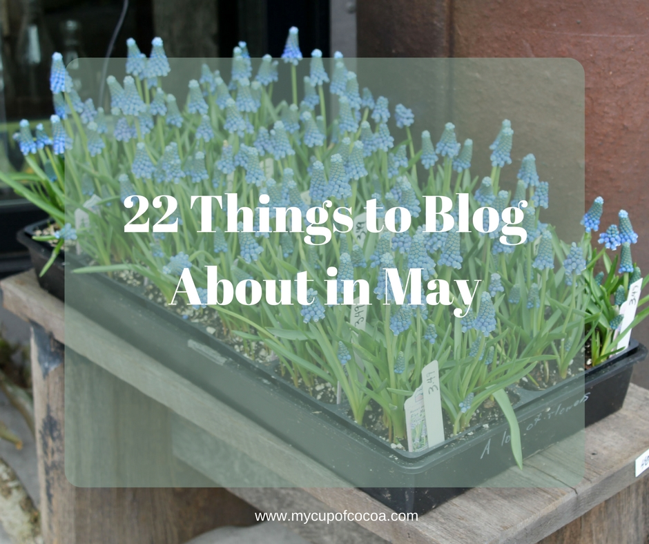 22 Things To Blog About In May  U2022 My Cup Of Cocoa
